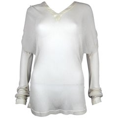 Alexander McQueen Sheer Draped Top from La Poupée, SS 97, Size US 6