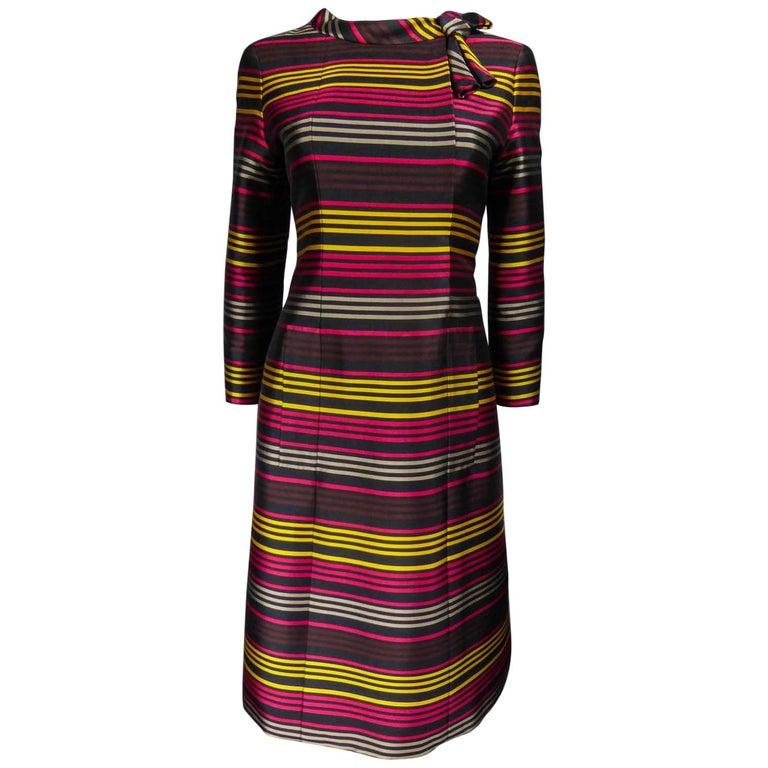 Jeanne Lanvin Couture cocktail dress, Circa 1965 For Sale