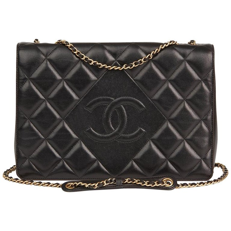 Chanel Black Quilted Lambskin Diamond CC Flap Bag, 2014