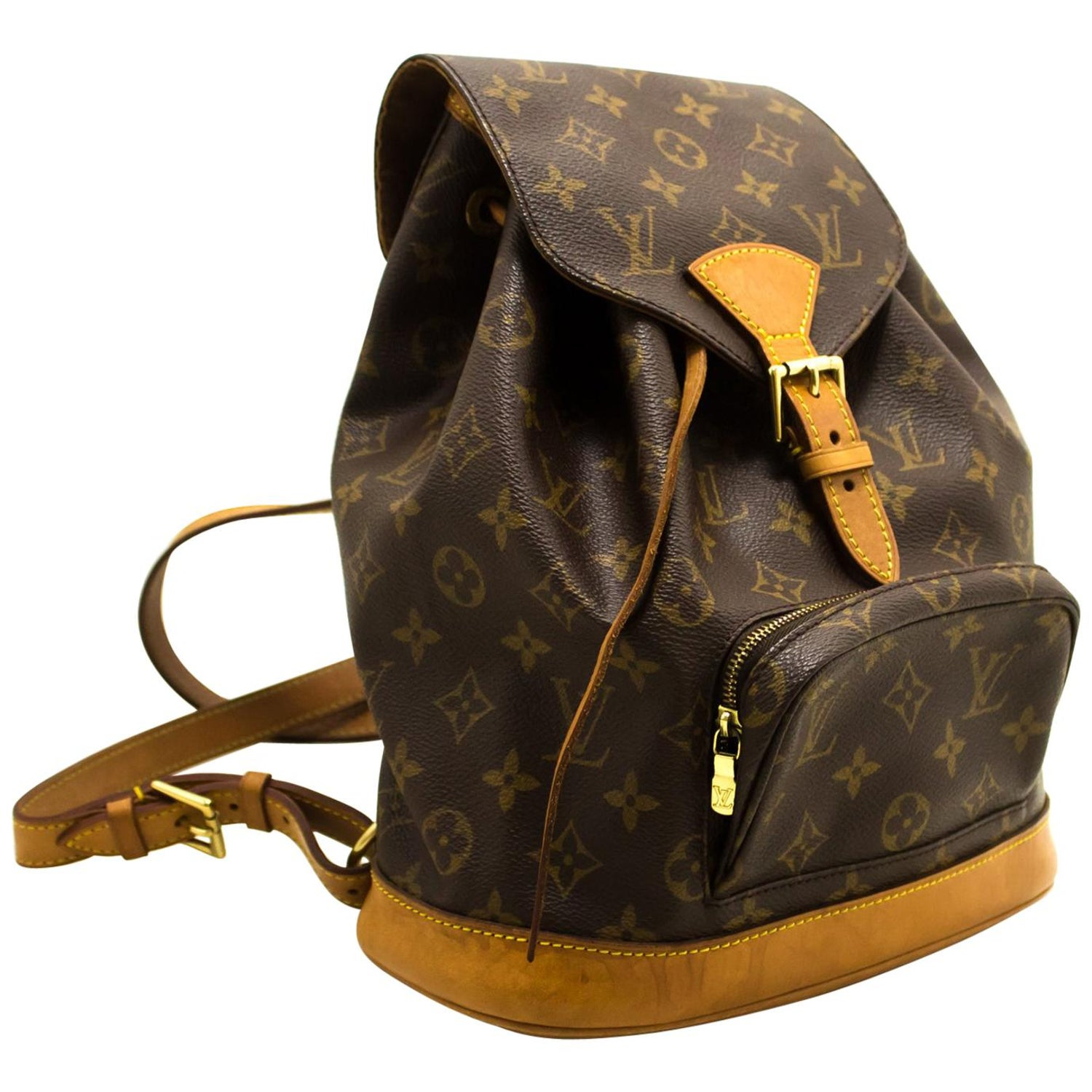 1d857a27f3fd5 Louis Vuitton Montsouris MM Monogram Backpack Bag Canvas Leather For Sale  at 1stdibs