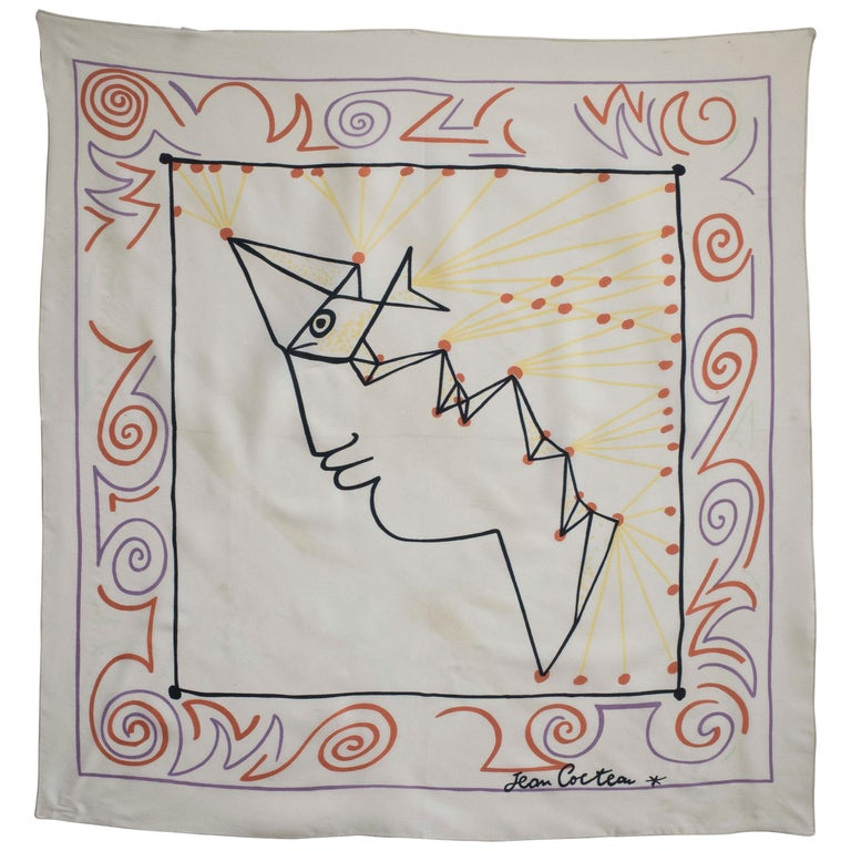 A Jean Cocteau Silk Scarf and a Fish