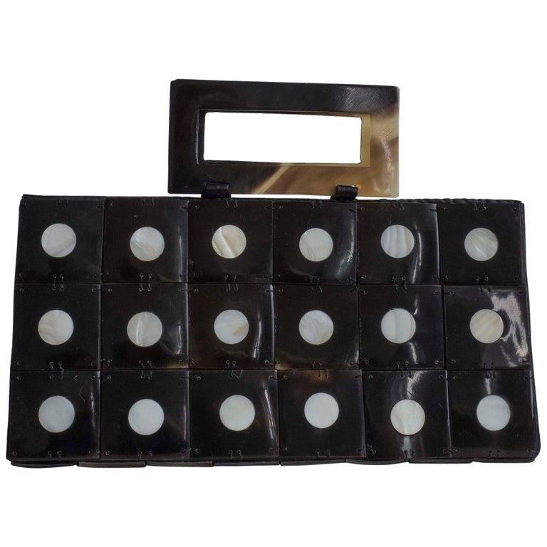 Art Deco Celluloid Box Purse,Evening bag For Sale