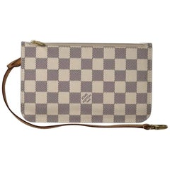 Louis Vuitton Damier Azur Neverfull MM Pouch Only Wristlet