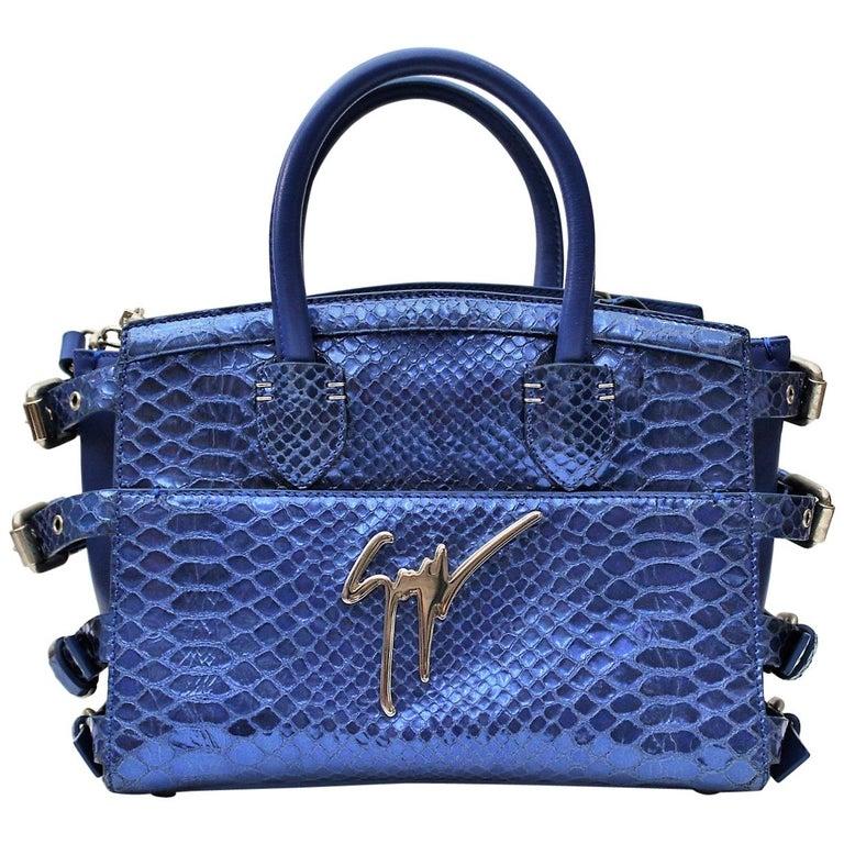 Giuseppe Zanotti G17 Leather Top Handle Bag