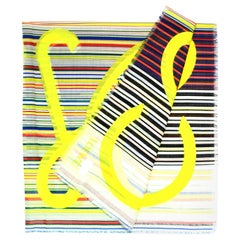 Loewe Multi-Color Stripe Wool Oversized Blanket Scarf