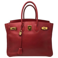 Hermes Red Birkin 35
