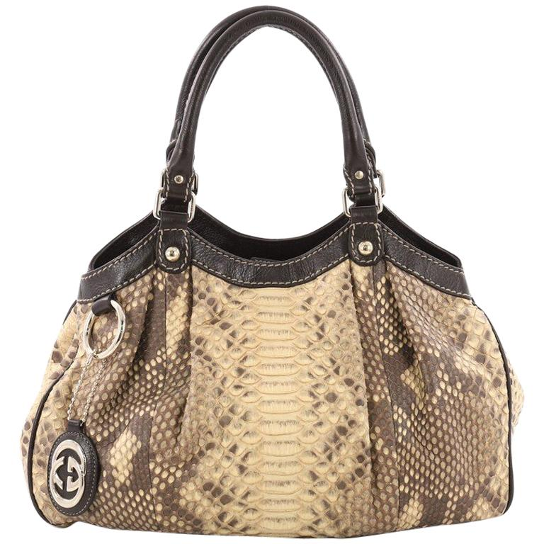 3c879e9ae9c7 Gucci Sukey Tote Bag Python Large Gucci Sukey Python Bag: Gucci Sukey Tote  Python Medium For Sale At 1stdibs