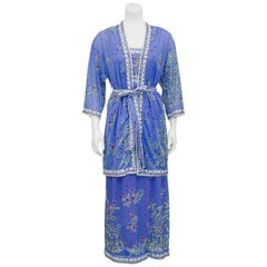 1970s Emilio Pucci For Formfit Rogers Maxi Dress and Jacket