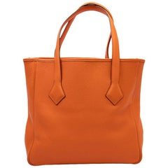 HERMES Bag in Orange Clémence Taurillon Leather
