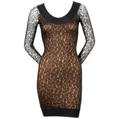 AZZEDINE ALAIA black lace runway dress - 1990