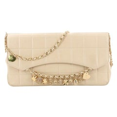 Chanel Vintage Chocolate Bar Lucky Charms Chain Flap Bag Quilted Lambskin
