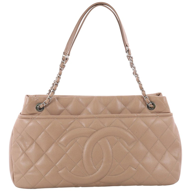 3920cfa3a34139 Chanel Timeless CC Soft Tote Quilted Caviar Large at 1stdibs