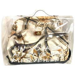 Vintage Hermes transparent clear vinyl Kelly beach bag, Japan limited Edition.