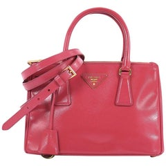 Prada Double Zip Lux Tote Vernice Saffiano Leather Mini