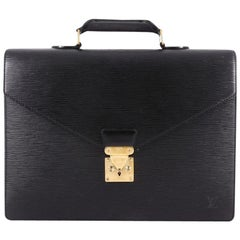 Louis Vuitton Serviette Ambassadeur Handbag Epi Leather