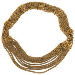 CHANEL Chain Belt in Gilt Metal