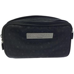 SONIA RYKIEL Belt Bag in Black Canvas