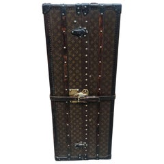 Louis Vuitton Antique Monogram Wardrobe Steamer Trunk c1920s