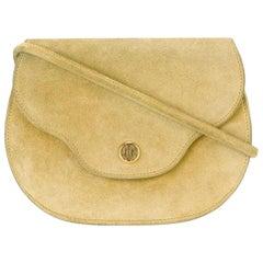 Hermes Yellow Suede Shoulder Bag