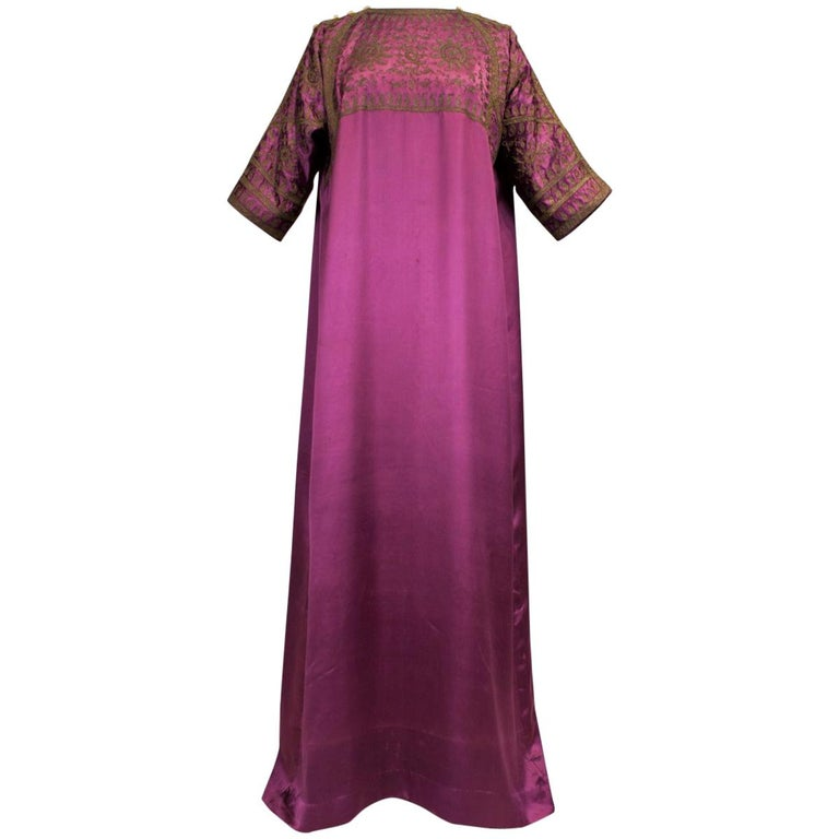 A Babani French Couture Orientalist Kaftan/Satin Evening Dress Circa 1930  For Sale