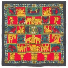 Hermes Multico Ethnic Small Cashmere Scarf