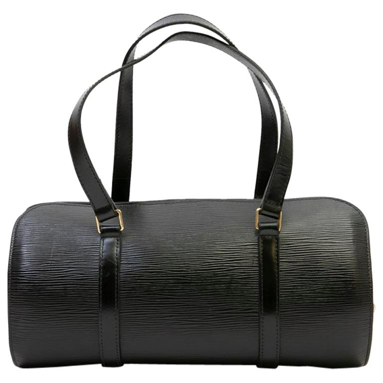 fe8bc6b411d3 LOUIS VUITTON  Butterfly  Bag in Black Epi Leather For Sale at 1stdibs