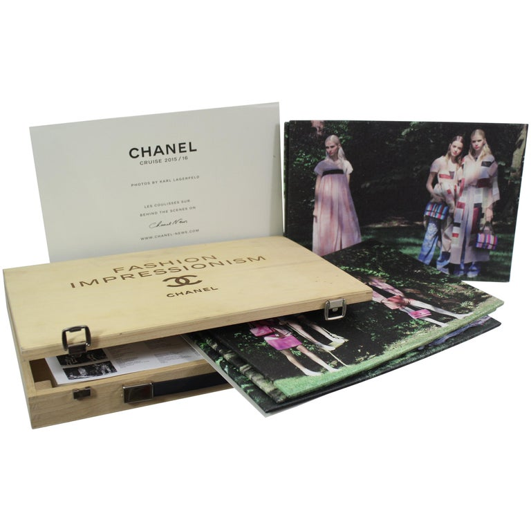 Chanel Wood Fashion Impressionism Bag / Case. Kit 2015 Cruise Collection
