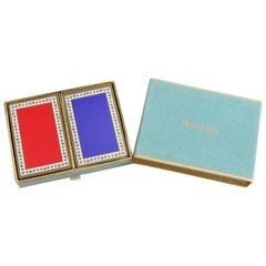 Tiffany & Company Classic Playing Cards in Box Set of Two Decks Game Accessories
