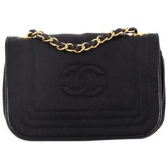 Chanel Vintage CC Stitch Flap Bag Satin Mini