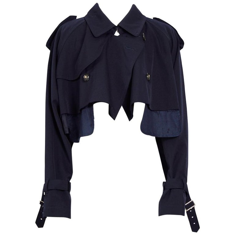 "Comme des Garcons 1992 ""unfinished"" collection cropped jacket"
