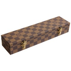 Louis Vuitton Mini Trunk Damier Canvas Travel Jewelry Case