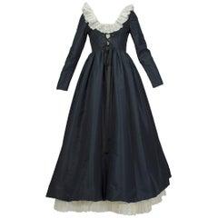 Oscar de la Renta Laced Elizabethan Revival Gown, 1971