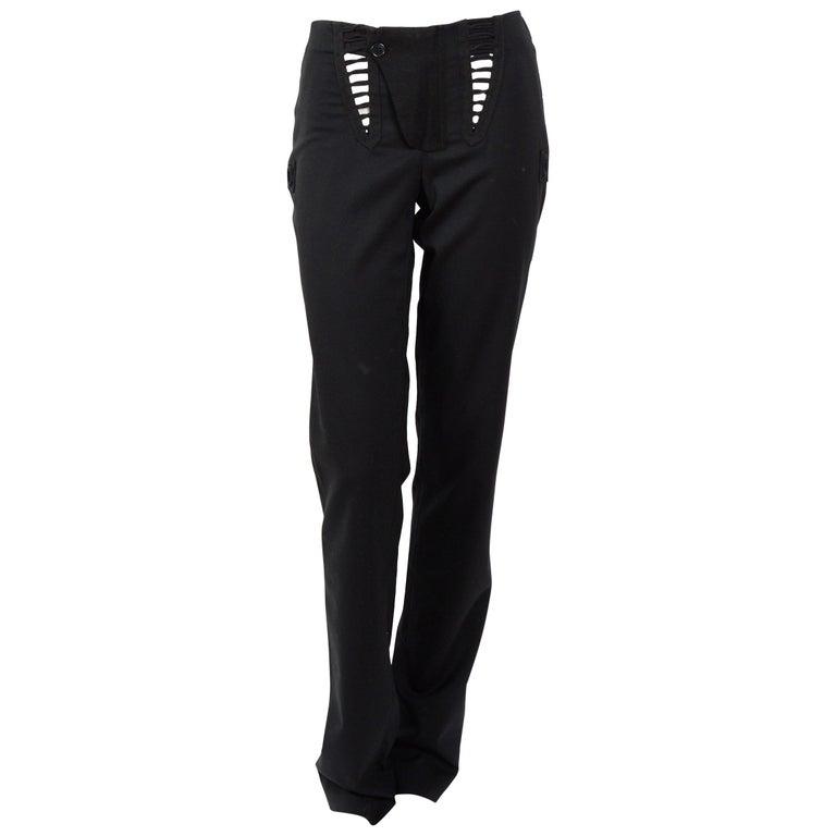 Helmut Lang Aviator black trousers, 2003