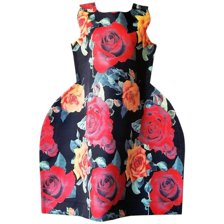 Comme de Garcons Tri-Dimensional Floral Pattern Flat Dress  For Sale