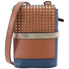 Christian Louboutin Benech Reporter Bag Spiked Leather
