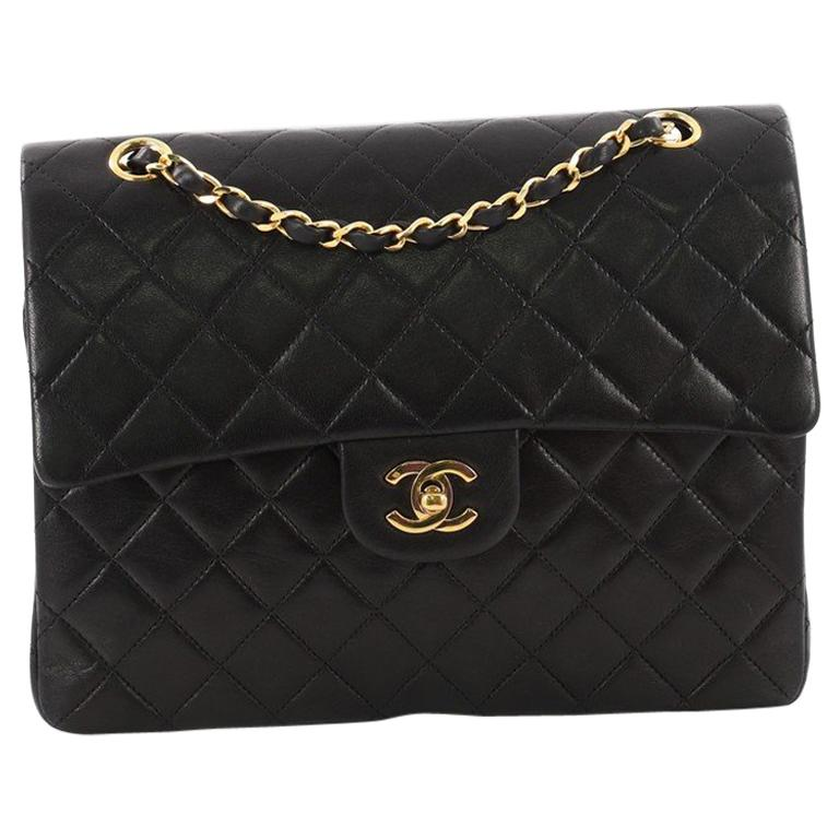 Chanel Vintage Square Classic Double Flap Bag Quilted Leather Medium For  Sale e1dffa0faeb0f