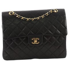 Chanel Vintage Square Classic Double Flap Bag Quilted Leather Medium