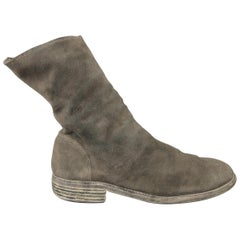 Guidi Grey Distressed Suede Ankle Boots / Shoes