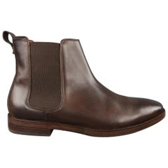 Cole Haan Brown Smooth Leather Rubber Sole Chelsea Ankle Shoes