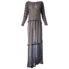 Issey Miyake striped knitted maxi dress, S / S 1984