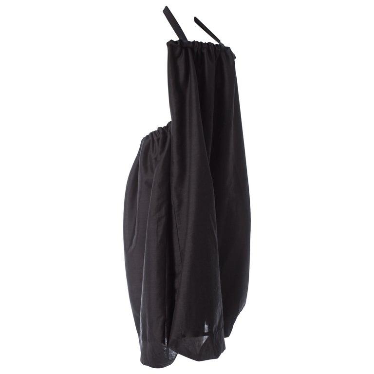 Yohji Yamamoto black convertible dress / skirt / bag combination, S / S 2001