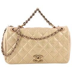 Chanel Pondichery Flap Bag Quilted Aged Calfskin Medium