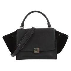 Celine Trapeze Handbag Leather Small