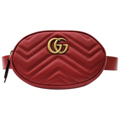 Gucci Belt Bag Red Leather  2018