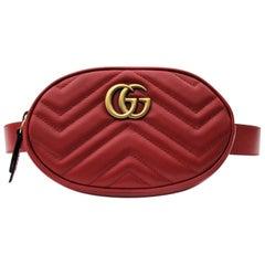 Gucci Belt Bag Red Leather  2018