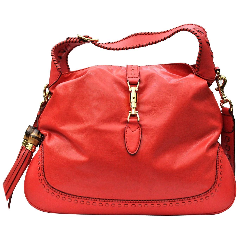 Gucci Red Leather Shoulder Bag