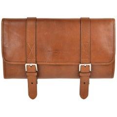 Brunello Cucinelli Men's Brown Leather Travel Fold Up Garment Bag