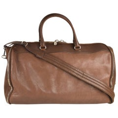Brunello Cucinelli Men's Brown Leather Travel Fold Up Garment Bag