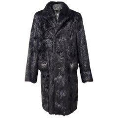 Roberto Cavalli Beaver Fur Coat For Men