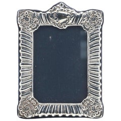 RBB London Sterling Silver Repousse Photograph Frame Baroque Design